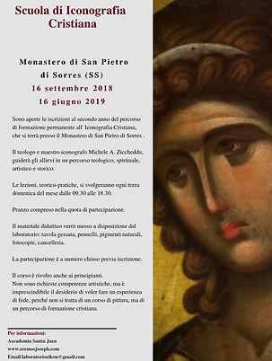 locandina scuola di iconografia 2018-19.