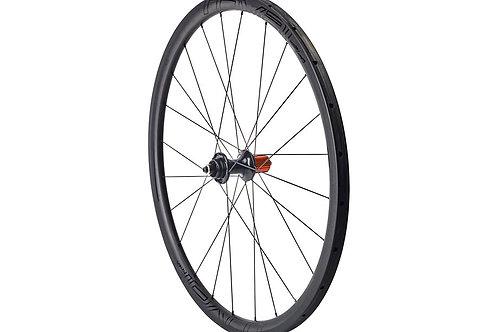 Paire de roues Roval CLX 32 Satin Carbon/Gloss Black (boyaux et disques)