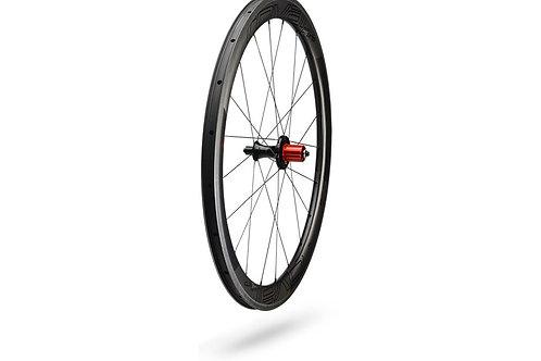Paire de roues Roval CLX 50 Satin Carbon/Gloss Black (en version patins)