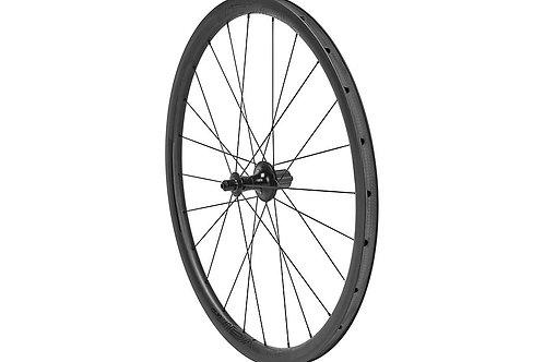 Paire de roues Roval CLX 32 Satin Carbon/Gloss Black (pneus et patins)