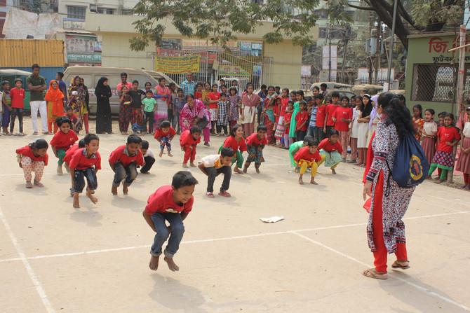 Sports Day - Operation of Children Center in Mirpur Slum Project