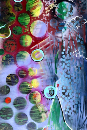 """Long Abstract 36x60"""""""