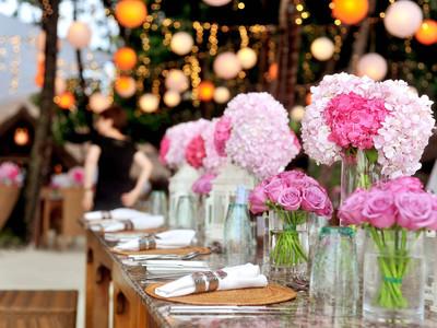 thème bouquet rose