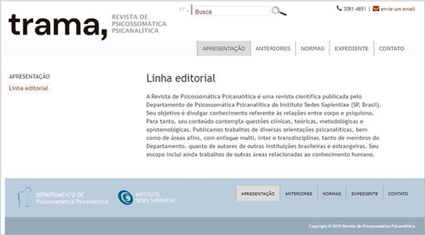 trama, Imagem Linha editorial 08 11 2019