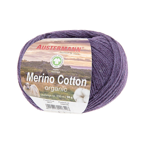Austermann Merino Cotton 021 aubergine