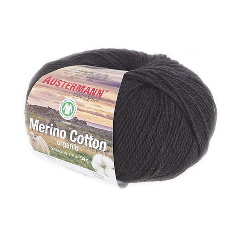 Austermann Merino Cotton 002 schwarz
