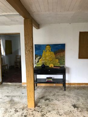 buddha in living room