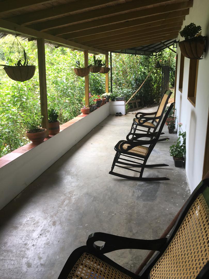 veranda with jungle/mountain overlook