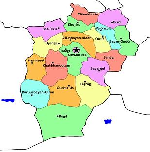 Map-of-Uvurkhangai-province-in-Mongolia.