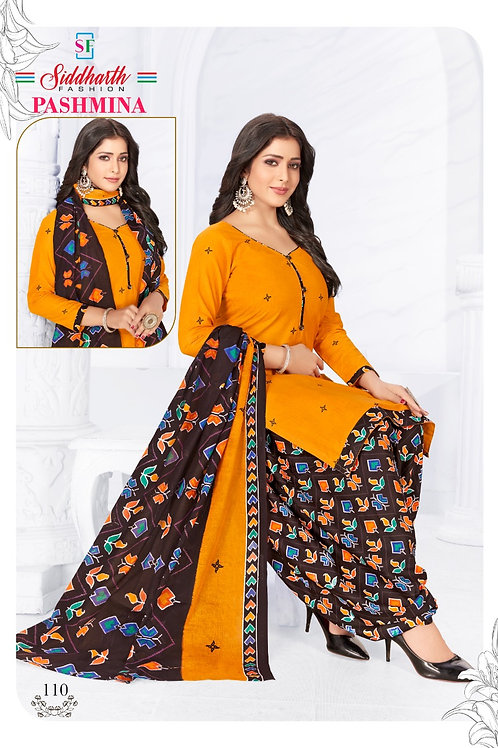 Branded Cotton Patiyala Suits With Lining