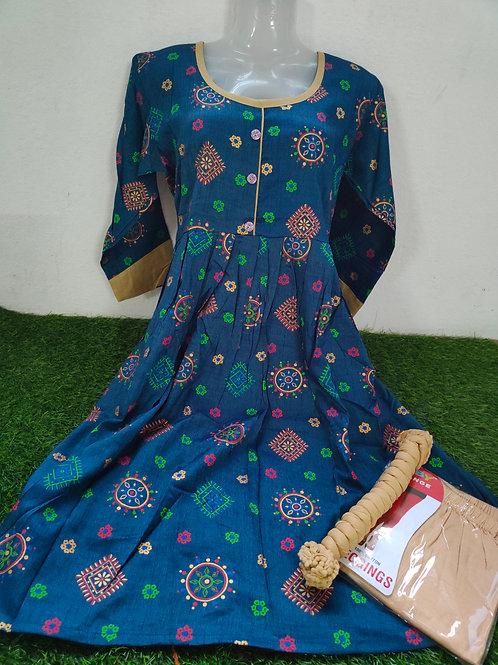 Kurti full Set with leggings and shawl - XL