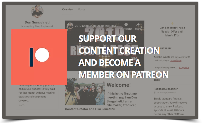 Support our content creation and become a member on Patreon