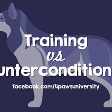 TRAINING vs COUNTERCONDITIONING