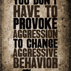 WHY YOU DON'T HAVE TO PROVOKE AGGRESSION TO CHANGE AGGRESSIVE BEHAVIOR