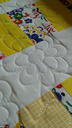 Long arm quilted flower