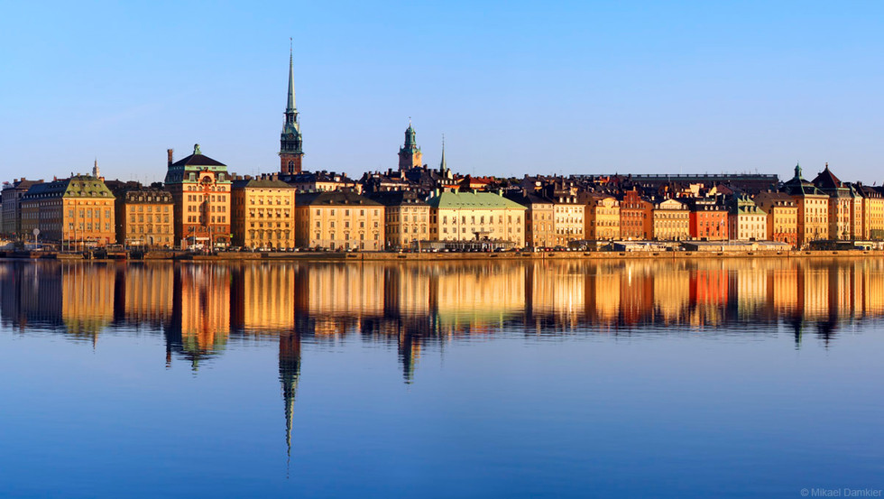 Stockholm, Sweden early morning and the old town