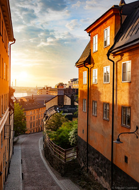 Early morning at Sodermalm district