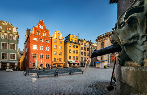 Stockholm, Sweden early morning at the old town