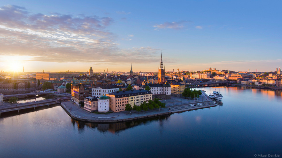 Panorama of Stockholm city early morning