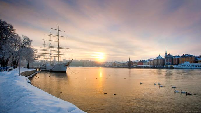 Stockholm in winter af Chapman