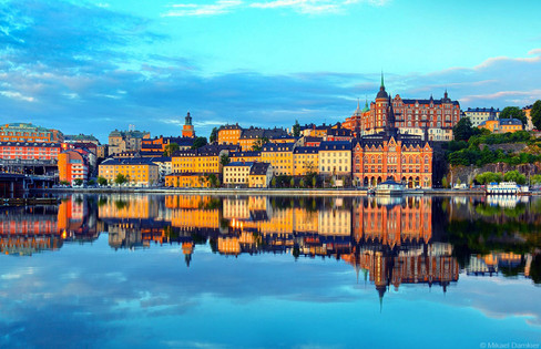 Stockholm, Sweden early morning and Sodermalm district
