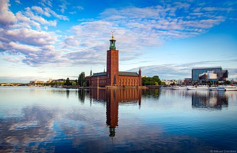 View of Stockholm City Hall from Riddarholmen