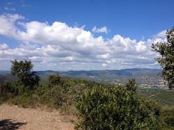 Vue collines entre Brégançon Bormes