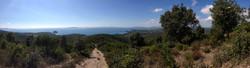 Chemin de traverse panorama vue sur mer