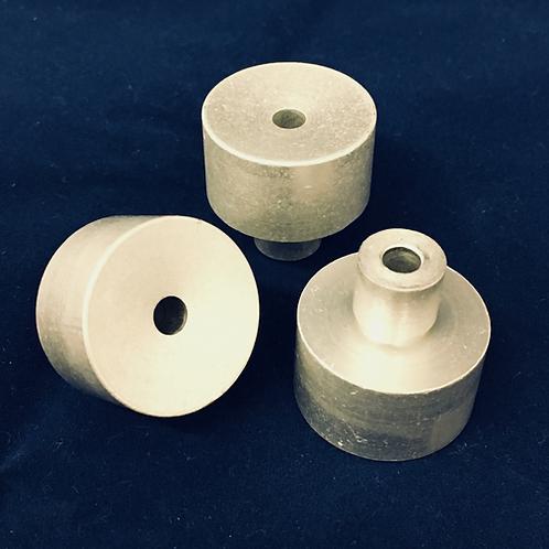 Aluminum Block Holders (100 Pack w/Labels) - LP1512
