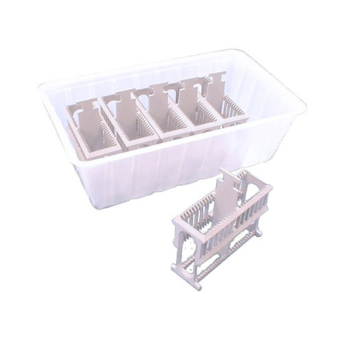Microwave Safe Slide Staining Holders with Tray - LP2519