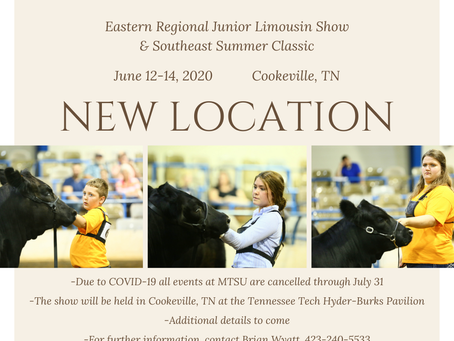 Eastern Regional Jr. Limousin Show - New Location