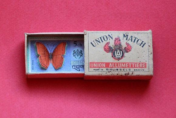 Boîte allumettes - papillon #9