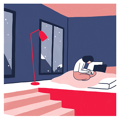 Winter Evening - Lorraine Sorlet