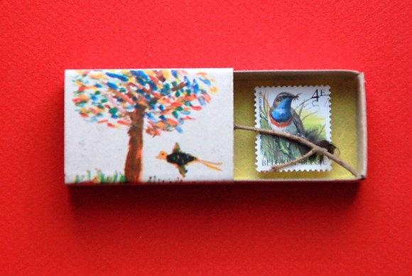 Boîte allumettes - oiseau #3