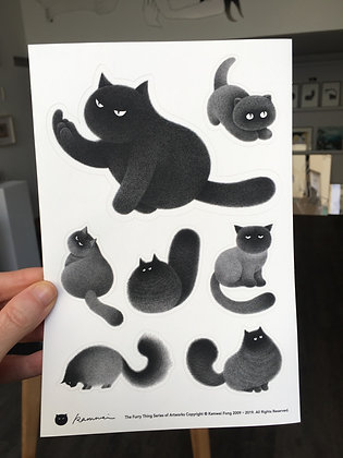 Kitty stickers / Set #1