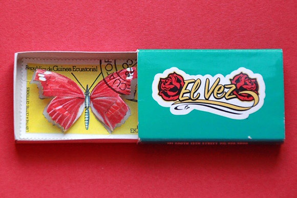 Boîte allumettes - papillon #14