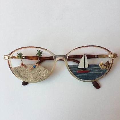 Lunettes de vue subjective - Sur la plage