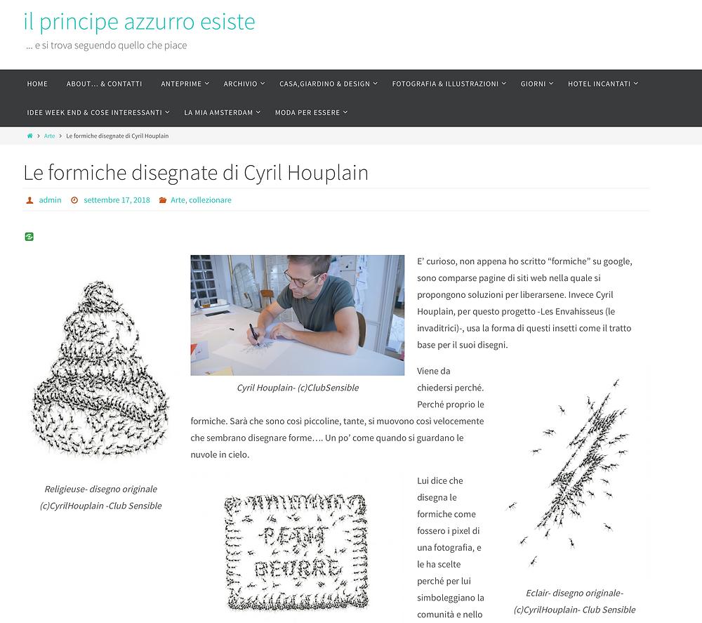 "Cyril Houplain dans le blog ""Il principe Azzuro Esiste"""