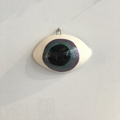 Grand œil irisé