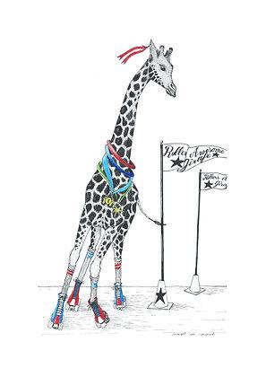 Roller Awesome Girafe - édition / A4 - Insight de Conquet