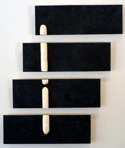 Phallic Phlotation #2. 3'x5' mixed media on plywood