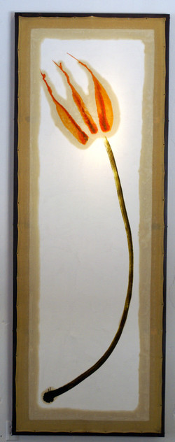 Flower #2. 3'x8' Oil on canvas.