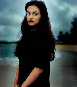 anne on the beach