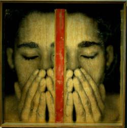 Alvarro. 4'x4' Digital print, wax on plywood