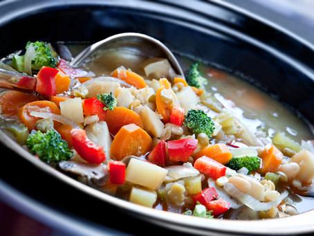 Veggie Soup and my TBR List