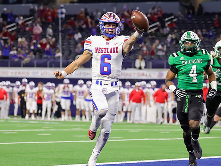 Westlake defeats Southlake Carroll in father-son coaching matchup to win 6A D1 State Championship