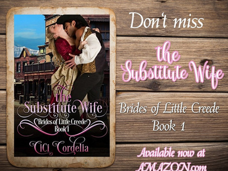 The Substitute Wife is here!                         A New Release & Giveaway from CiCi Cordelia