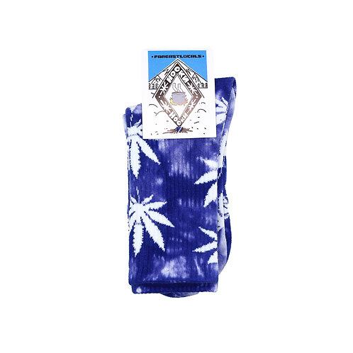 Носки вареные Листик фиолетовый