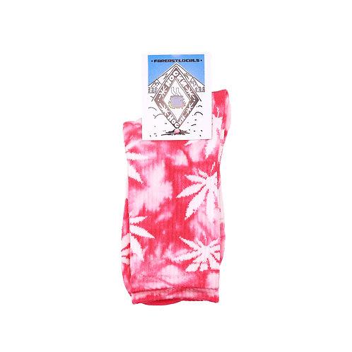 Носки вареные Листик розовый