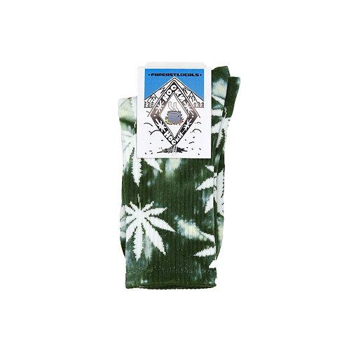 Носки вареные Листик зеленый